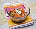 Carrot and kohlrabi salad Stock Photos
