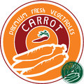 Carrot label vector sign Royalty Free Stock Photos