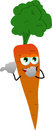 Carrot laughing and pointing
