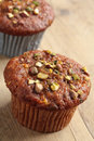 Carrot muffins Royalty Free Stock Images