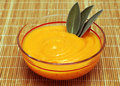 Carrot puree and sage Royalty Free Stock Photo