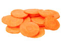 Carrot slices isolated on the white background Stock Photography