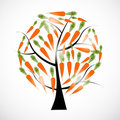Carrot tree  illustration Stock Photo