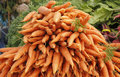 Carrots at Farmers market Royalty Free Stock Photo