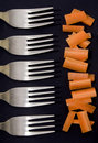 Carrots and forks Royalty Free Stock Image