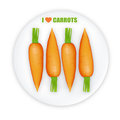 Carrots illustration Stock Image