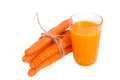 Carrots and juice Royalty Free Stock Photo