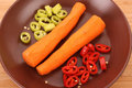 Carrots  with pepper Stock Photography