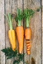 Carrots, top view Royalty Free Stock Photo
