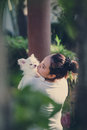 Carry dog on a white chihuahua Royalty Free Stock Photos