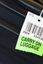 Carry on luggage label. Royalty Free Stock Images