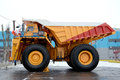 A carrying capacity is tons heavy ������������ intended for transportation of ore mass in career makes Royalty Free Stock Photos