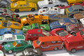 Many collectors edition old car figurines Royalty Free Stock Photo