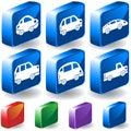Cars 3D Button Set Stock Image