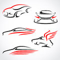 Cars abstract set vector this is file of eps format Stock Photos