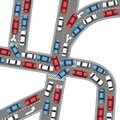 Cars bumper to bumper traffic jam busy drive time busy roads Stock Photography