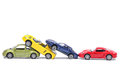 Cars in a chain crash netherlands june simulated Royalty Free Stock Photography