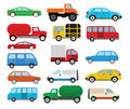 Cars collection vector illustration of colorful car symbols Stock Image