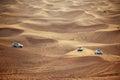 Cars in dubai desert uae Royalty Free Stock Photos