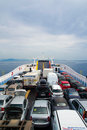 Cars on ferry Royalty Free Stock Photo