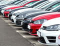 Cars on Garage Forecourt Royalty Free Stock Photo