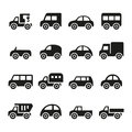 Cars icon set this is file of eps format Stock Image