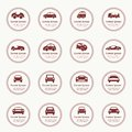 Cars icons set different  car forms. Royalty Free Stock Images