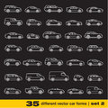 Cars icons set different outline vector car forms Royalty Free Stock Image
