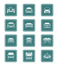 Cars icons | TEAL series Stock Photography