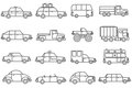 Cars Line Icons Set Royalty Free Stock Photo