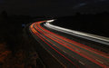 Cars on M3 motorway at night Royalty Free Stock Photo