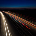 Cars moving fast Royalty Free Stock Photo