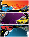 Cars and music background Royalty Free Stock Images