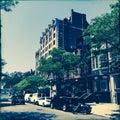 Cars on Newbury Street, Boston, Massachusetts Royalty Free Stock Photo