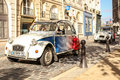 Cars paris authentic editorial sightseeing in Royalty Free Stock Photography