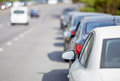 Cars parked on the roadside Royalty Free Stock Photography