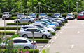cars in parking lot Royalty Free Stock Photo