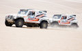 Cars race in Dakar 2013 Royalty Free Stock Photo
