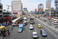 Cars running on street at EDSA in Manila, Philippines Royalty Free Stock Photo