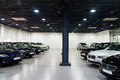 Cars for sale in showroom lined up dealership Royalty Free Stock Photography