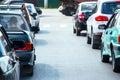 Cars on street in traffic jam