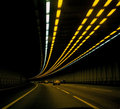 Cars in tunnel Royalty Free Stock Photo