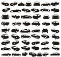 Cars vector composition Royalty Free Stock Photos