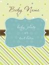 Cartão de chegada do bebé com frame Imagens de Stock