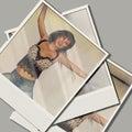 Cartão de salto da foto da menina Imagens de Stock