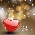 Cartão do dia de Valentim, cartão de presente ou fundo com brilho Imagem de Stock
