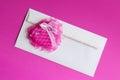 Cartão do dia de valentim coração vermelho fotos conservadas em estoque Foto de Stock Royalty Free
