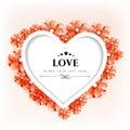 Cartão do dia de Valentim ou cartão de presente com decorativo floral Foto de Stock