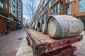 Cart  barrel :Distillery dis. Toronto Canada Royalty Free Stock Photo