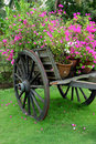 Cart flowers Royalty Free Stock Photo